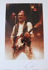Original hand signed photo of Francis Rossi 11.9 x 8 in mounted by Mel Longhurst
