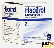Habitrol Nicotine Gum 2 mg FRUIT Flavor (2304 Pieces, 6 Bulk Boxes) Fresh