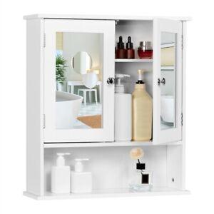 Armoire Murale de Salle de Bain Miroir Meuble de Toilette compartiment Ouvert