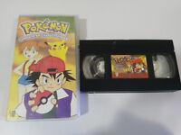 Pokemon Combattimento IN Città D' Argento - 3 VHS Episodi Nastro Spagnolo 3T