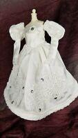 Handmade OOAK Barbie Doll Wedding Dress Clothes Formal Fancy White Lace
