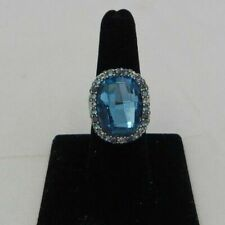 Brighton Contessa Blue Crystal Statement Ring J6176 RTL Sz 7 RARE Find