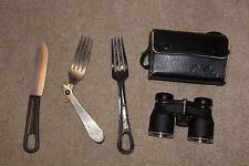 US Military Fork and Knife Binocular set old war vintage