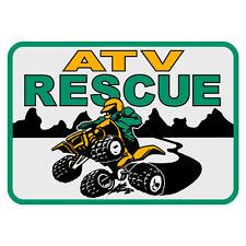 """ATV Rescue Reflective 4"""" Decal Sticker"""