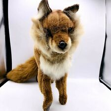 Hansa Fox Realistic Standing Plush Soft Toy Fluffy Tail