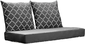 Deep Seat Loveseat Cushion Indoor Outdoor AllWeather Replacement Chair Set 24x48