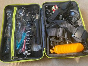 Gopro Sport Camera Accessory Kit - chest, head, wrist mounts, Tripod, Case, Etc.