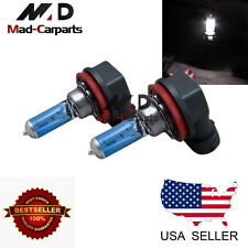H11 100w Halogen Xenon Headlight Replacement 2x Light Bulb Lamp 6000K White
