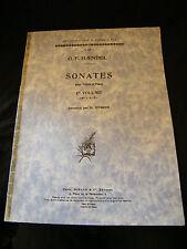 Partition Haendel Sonates pour Violon et Piano Busser Music Sheet Durand n°9377