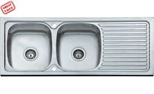 Double bowl inset sink with drainer 1200 x 500  (Damaged) Please see description