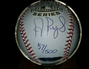 ALBERT PUJOLS - 2006 World Series Baseball Autograph - UDA w/ Box & Bag #d57/500