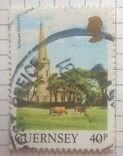 Great Britain stamps - Guernsey Torteval Church 40p - FREE P&P