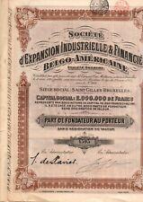 SOCIETE D EXPANSION INDUSTRIELLE &FINANCIERE BELGO AMERICAINE 2