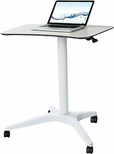 Pneumatic Desk, Excellent Furniture Adjustable Height Sit Stand Mobile 25.5 x 18