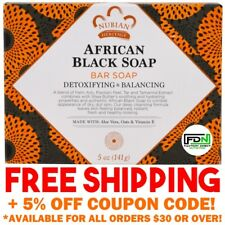 Nubian Heritage Soap Bars AFRICAN BLACK Organic Aloe Vitamin E Anti Blemish Bar
