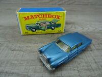 Vintage 1960's Lesney Matchbox No 46 Mercedes 300 SE Coupe Blue Toy Car Boxed