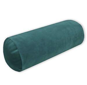 Mf61g Light Turquoise Blue Microfiber Velvet Bolster CASE Yoga Neck Roll COVER