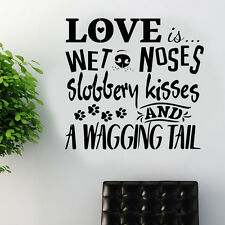 Dog wall sticker art decal transfer pet grooming quote