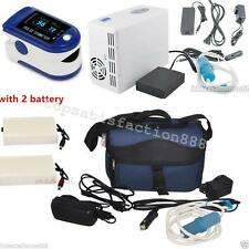 Home Travel Portable Oxygen Concentrator Generator+2 Battery+Pulse Oximeter High