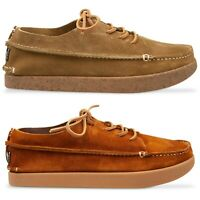 Yogi Footwear - Finn 2 Negative Heel Shoe - Chestnut Brown, Moss Suede - BNIB