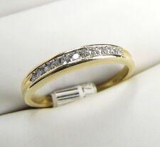 Genuine DIAMOND 10K Yellow Gold Band Ring size 7.5