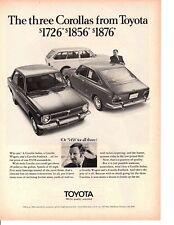 1970 TOYOTA COROLA ~ ORIGINAL PRINT AD