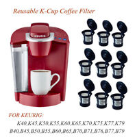 9PCS Reusable Refillable K-Cup Coffee Filter Pod for Keurig K50&K55 Coffee Maker