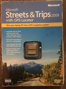 SEALED-NEW Microsoft Streets and Trips 2008 GPS Locator DVD ZV3-00014 FREE SHIP