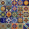 25 Mexican Talavera TILES 2x2 Clay Handmade Folk Art Mosaic Handpainted