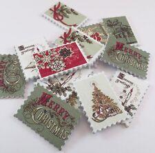 Sello de Navidad Adornos En Forma De Botón De Madera-Santa Trineo Copos De Nieve