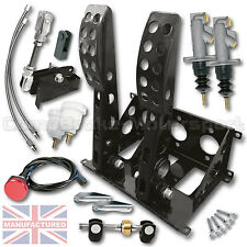 UNIVERSAL FLOOR MOUNTED 2 PEDAL CABLE PEDAL BOX + KIT B  CMB0704-CAB-KIT-LINES