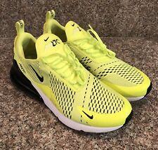 Nike Air Max 270 Running Shoes Men's Size 12 Volt Black Dark Grey AH8050 701