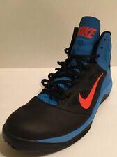 6f9ba0934 Nike DUAL FUSION BB II Men s Size 12 Black Blue Basketball Shoes Sneakers.