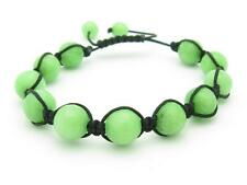 Shamballa Design Macrame Green Agate Bead Stackable Bracelet Unique Gift Idea