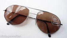 Eschenbach coole Pilotenbrille silber Metall dunkle Sonnenbrille getönt size L