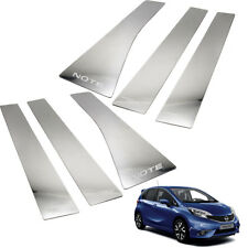 For Nissan Note 2016 2017 2018 Door Pillar Sill Trim Stainless Steel 6 Pc