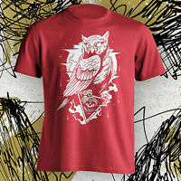 Owl Tee T-shirt Cool Hipster All Seeing Eye Illuminati