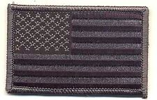 "3 1/4"" ACU Black Grey United States US Flag Patch VELCRO® BRAND Fastener Compati"