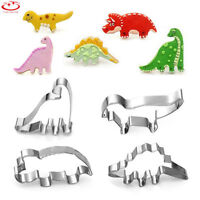 4pcs Stainless Steel Dinosaur Cookie Biscuit Cutter Mold Cake Pastry Baking Tool