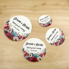 3/4/5/6cm Custom Wedding Sticker Round Baptism Birthday Boxes Gift Tags Favors
