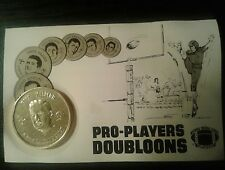 1969 NEW ORLEANS SAINTS PRO PLAYER DOUBLOON COIN BILL KILMER on POSTCARD RARE!