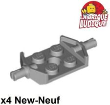 Lego x4 Plate Modified 2x2 Fixation roue Wheels Holder gris/l b gray 6157 NEW