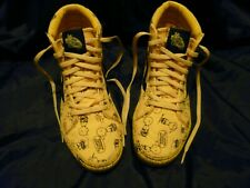 VANS PEANUTS Yellow Charlie Brown Snoopy High Top Tennis Shoes Mens 6 Skateboard