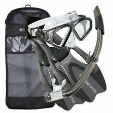 U.S. Divers Adult Cozumel Mask, Seabreeze II Snorkel, ProFlex Fins (Open Box)