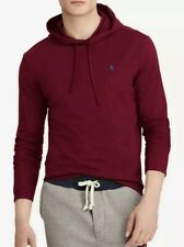 Ralph Lauren Polo Men's Hoodie Burgundy Blue Logo Shirt 2XL XXL