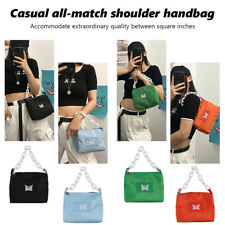 Women Handbag Butterfly Acrylic Chain Underarm Shoulder Bag Casual Totes Purses
