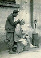 """Photographie,  """"Le barbier"""", Chine ancienne, 1904       /     13 x 18"""