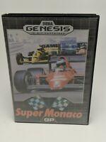 Original Super Monaco GP (Sega Genesis, 1990) Complete TESTED CIB--Broken case