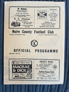 77/8 Nairn County vs Huntly