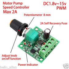 DC 3V 5V 6V 9V 12V 2A PWM DC Motor Pump Speed Controller Adjustable Speed Switch